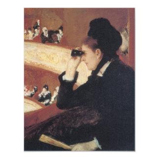 At the Opera by Mary Cassatt Vintage Impressionism 4.25x5.5 Paper Invitation Card