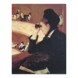 At the Opera by Mary Cassatt Vintage Impressionism 4.25x5.5 Paper Invitation Card