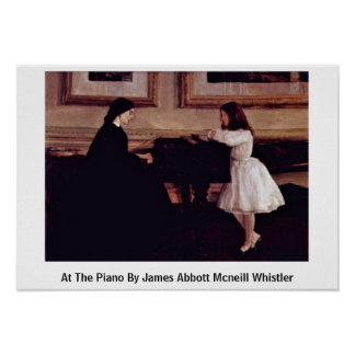 At The Piano By James Abbott Mcneill Whistler Print