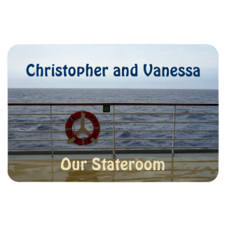 At the Railing Stateroom Door Marker Rectangular Photo Magnet