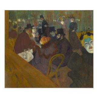 At the Rouge by Henri de Toulouse-Lautrec Photo Print