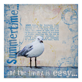 At the sea card