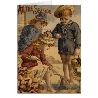 At The Seaside, Greeting card by Charlotte Self