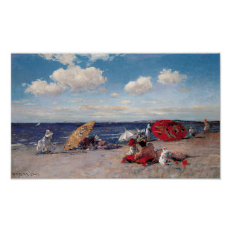 At The Seaside Poster