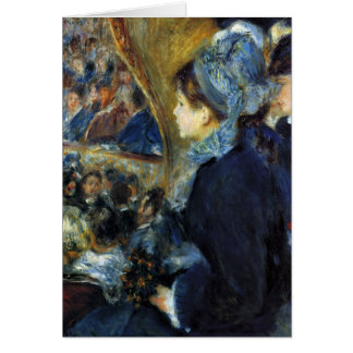 At the theatre by Pierre Renoir Card