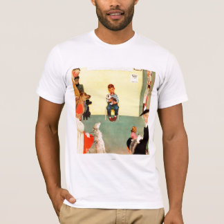 At The Vets by Norman Rockwell T-Shirt