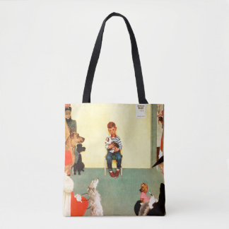 At The Vets by Norman Rockwell Tote Bag