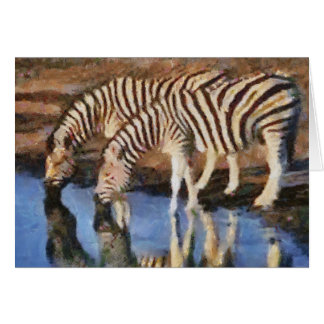 At The Watering Hole Note Card