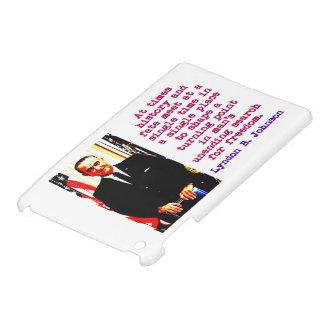 At Times History And Fate - Lyndon Johnson iPad Mini Cover