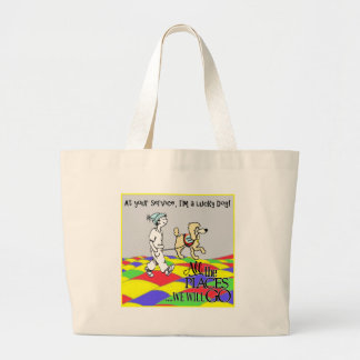 At your Service C&B copy Large Tote Bag