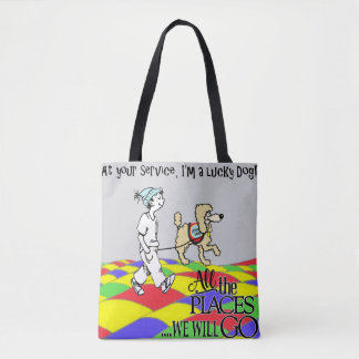 At your Service oversized print Tote Bag