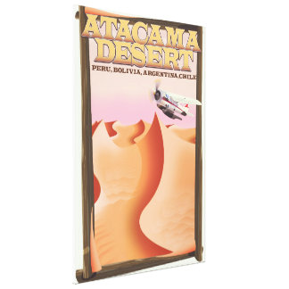 Atacama Desert Adventure travel poster. Canvas Print