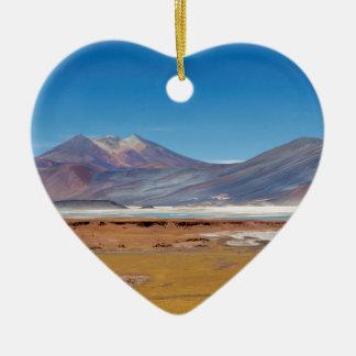 Atacama salt lake ceramic heart decoration