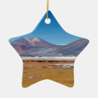 Atacama salt lake ceramic star decoration