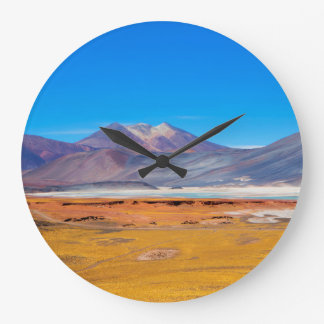 Atacama Salt Lake Large Clock