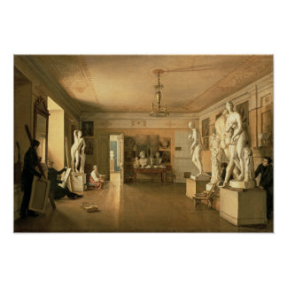 Atelier of the artist Alexey Venetsianov  1827 Poster
