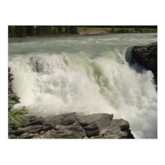 Athabasca Waterfalls in Alberta Postcard