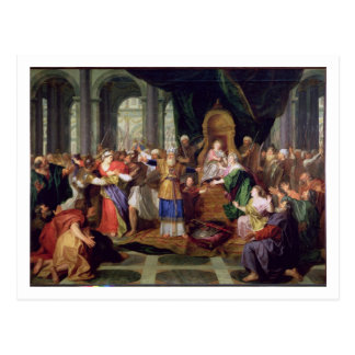Athaliah Expelled from the Temple, c.1697 (oil on Postcard