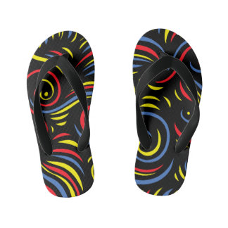 """Athanasiou"" Adult Flip Flops Yellow Red Blue Thongs"