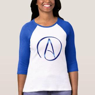 Atheism Symbol Raglan T-Shirt