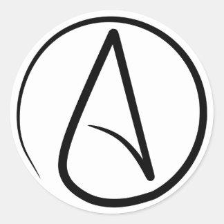Atheism Symbol Round Sticker