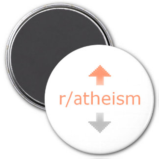Atheism Upvote 7.5 Cm Round Magnet