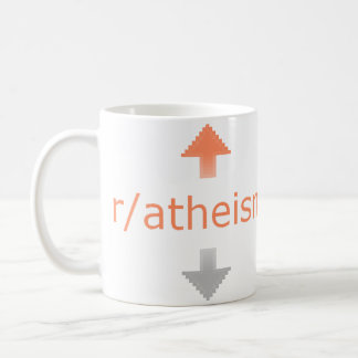 Atheism Upvote Basic White Mug