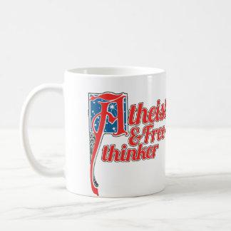 Atheist and freethinker coffee mug
