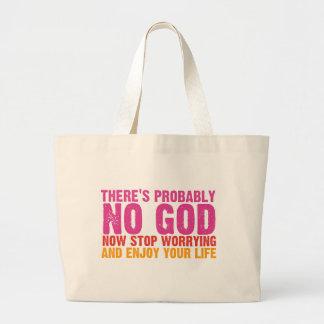 Atheist Bus Campaign (Vertical) Jumbo Tote Bag