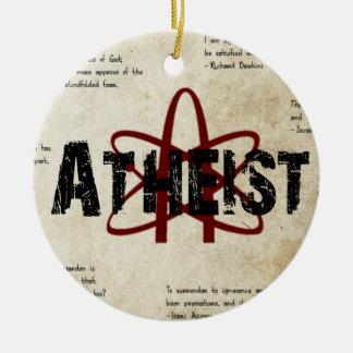 Atheist Ceramic Ornament