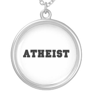 Atheist Collegiate Logo Silver Plated Necklace