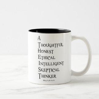 Atheist Defined Two-Tone Coffee Mug
