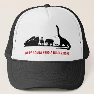 Atheist dinosaur trucker hat