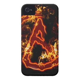 Atheist Fire Symbol Case-Mate iPhone 4 Cases