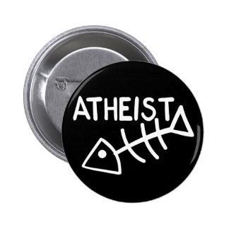 Atheist Fish 6 Cm Round Badge