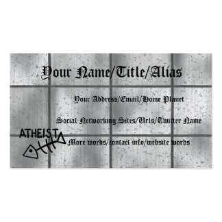 Atheist Fish Double-Sided Standard Business Cards (Pack Of 100)