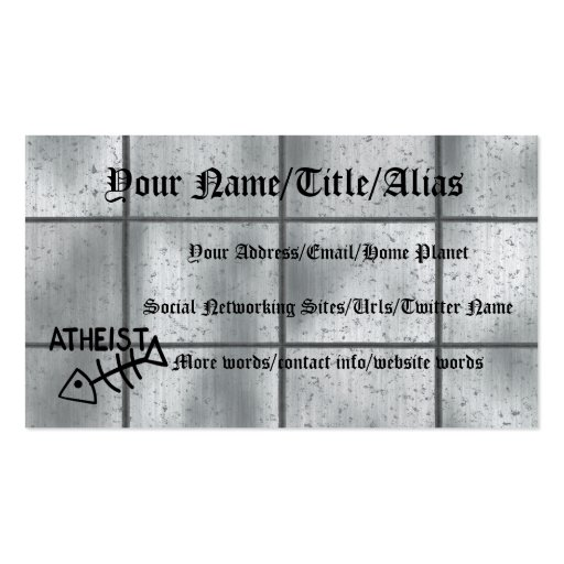 Atheist Fish Business Cards