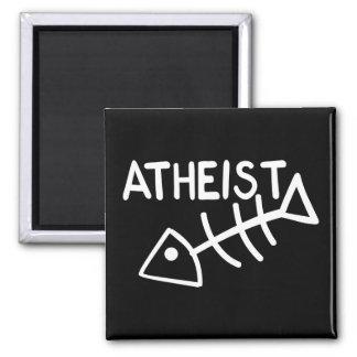 Atheist Fish Square Magnet