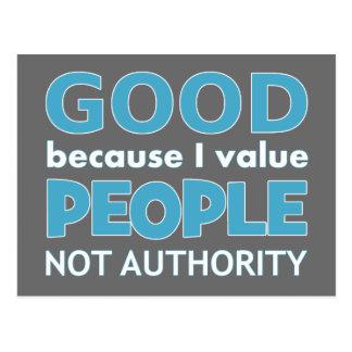 Atheist: Good because I value... Postcard