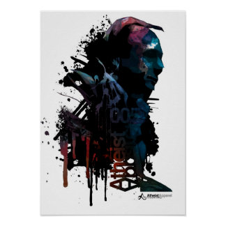 Atheist Heroes Christopher Hitchens Poster