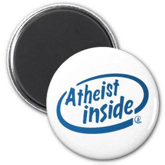 Atheist Inside 6 Cm Round Magnet