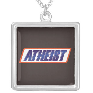 Atheist Logo Square Pendant Necklace