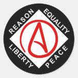 Atheist logo stickers