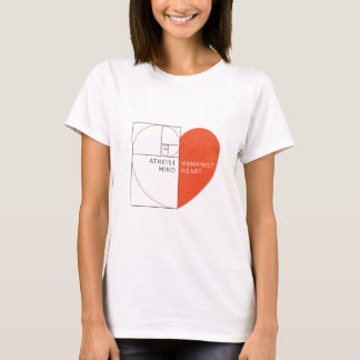 Atheist Mind, Humanist Heart T-Shirt