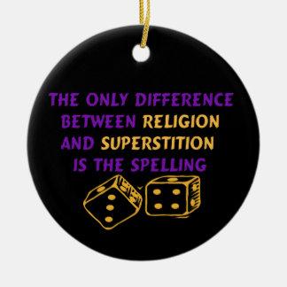Atheist Quote Ceramic Ornament