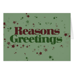 Funny atheist christmas cards invitations zazzle atheist reasons greetings card m4hsunfo