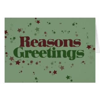 Atheist Reasons Greetings Card
