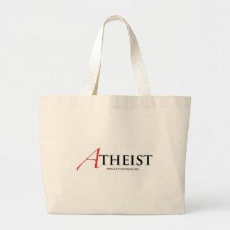 Atheist (Scarlet Letter) Jumbo Tote Bag