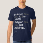 Atheist - Science Flies to the moon Tshirt