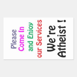 Atheist Serve Rectangular Sticker